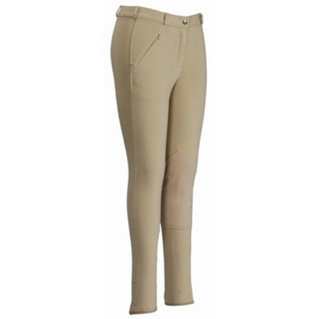 Breeches - Ladies Light Cotton Lowrise Knee Patch Long Breeches