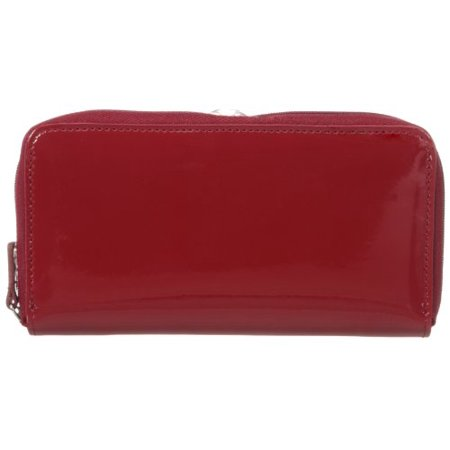 Jack Georges Zippered Checkbook, Red, One Size