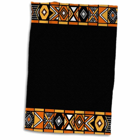 3dRose Traditional African Pattern - Art of Africa Inspired by Zulu Beadwork Geometric designs - Ethnic - Towel, 15 by