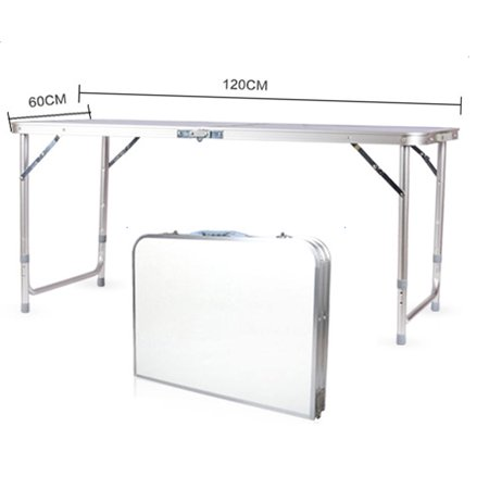 ZeAofa 120 x 60 x 70 4Ft Portable Multipurpose Folding Table White 120 In Work Table