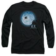 ET the Extra Terrestrial Moon Scene Mens Long Sleeve Shirt