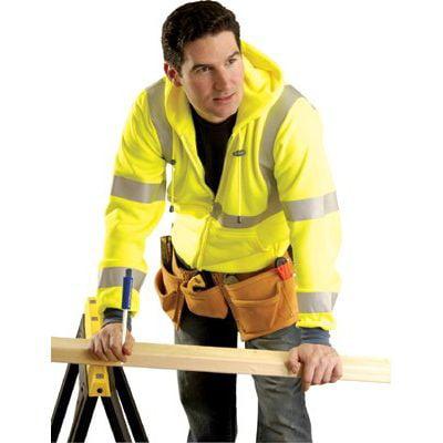 OccuNomix Occunomix - Hi-Visibility Sweatshirt Jackets L Occulux Hood Sweatshirt: Yellow: 561-Lux-Swt3Hz-Yl - l occulux hood sweatshirt: yellow