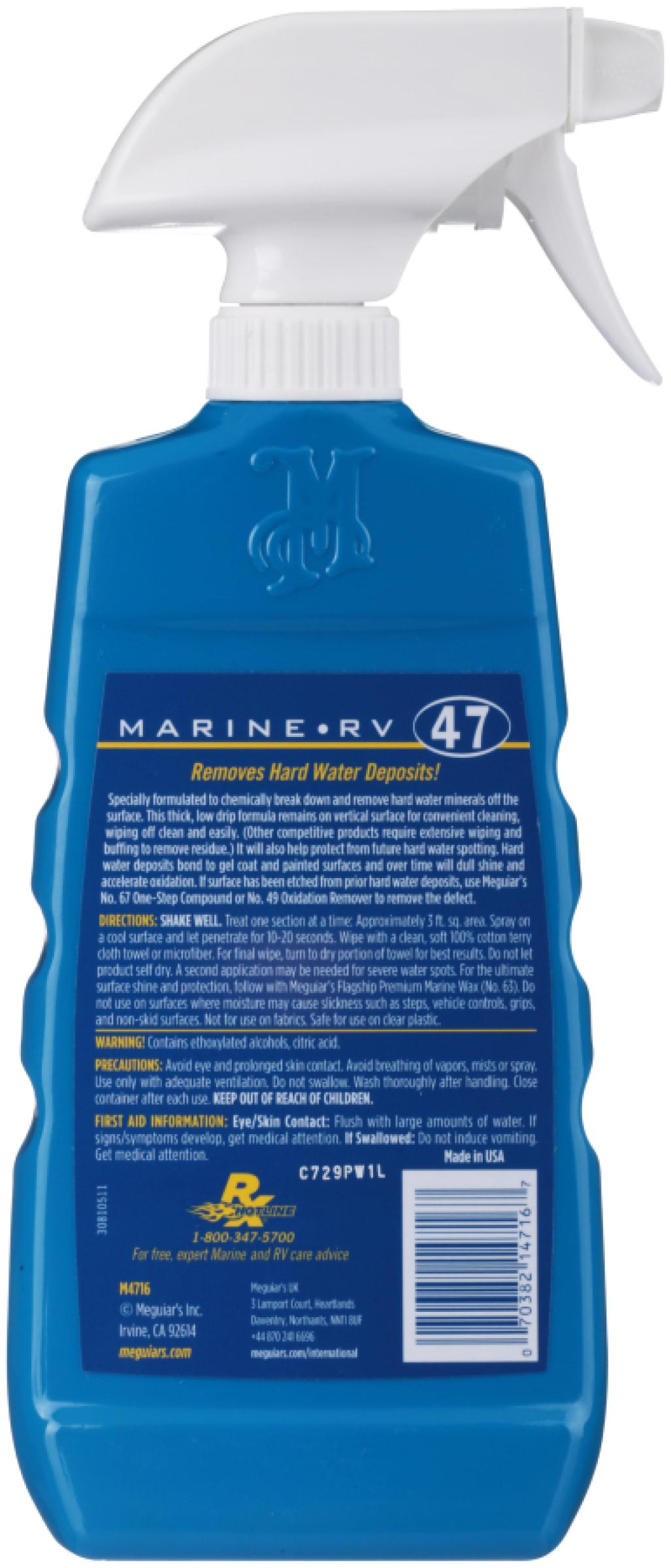Meguiars® Marine RV Hard Water Spot Remover 16 fl. oz. Trigger Spray ...