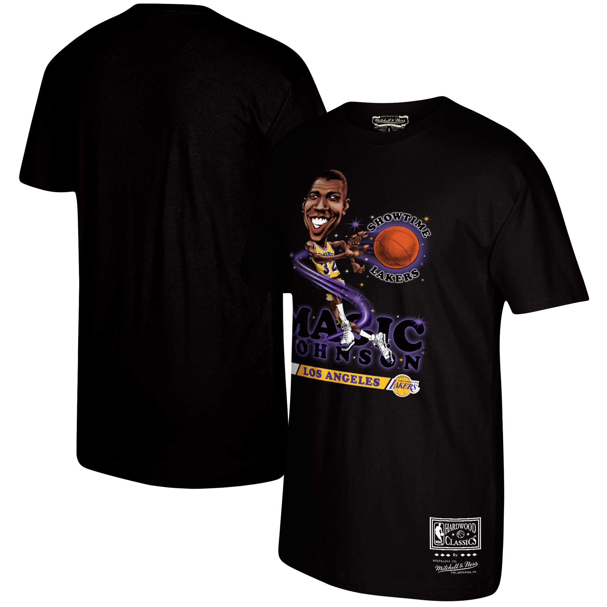 Magic Johnson Los Angeles Lakers Mitchell & Ness Salem Classic T-Shirt - Black