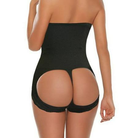 SAYFUT Femmes cabinet de contrôle amincissants Butt Lifter Mise en forme Boyshorts Salut-taille transparente taille formateur C