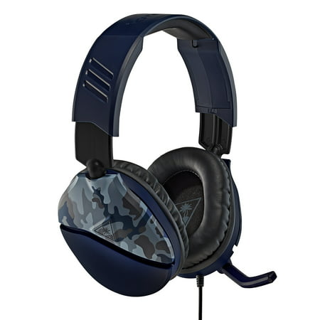 RECON 70 Gaming Headset, Blue Camo, Turtle Beach, Multiple-Platform, 731855065554
