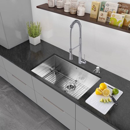 Vigo All In One 30 Stainless Steel Undermount Kitchen Sink And Laurelton Chrome Faucet Set