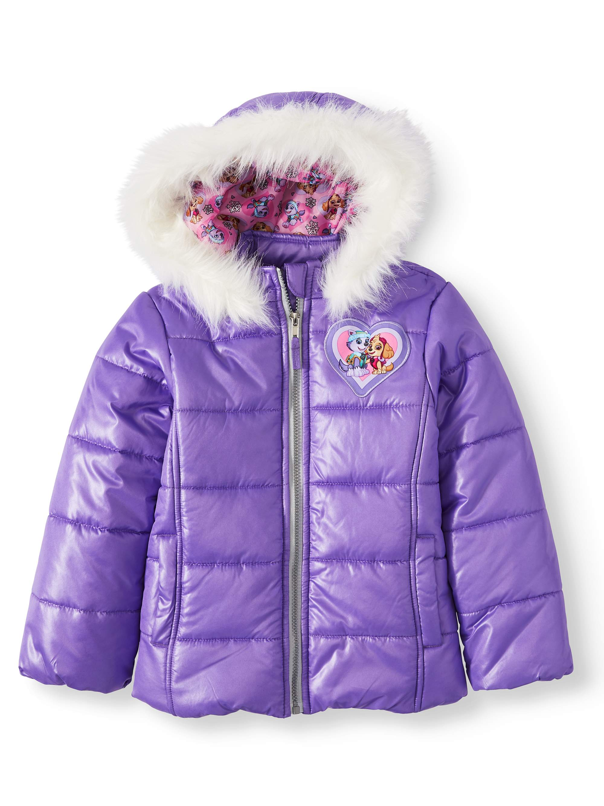 Boys Girls Kids Paw Patrol Hooded Winter Jacket Coat Puffer Age 2 to 3-4 to 5