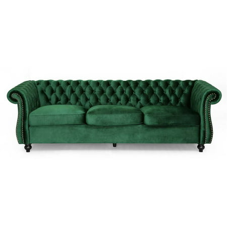 Somerville Chesterfield Tufted Sofa in Emerald Finish ()