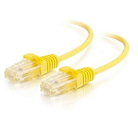 C2G 10ft Cat6 Snagless non blindée (UTP) Réseau Ethernet Slim Patch Cable - Jaune - Catégorie 6 Pour - image 1 de 1