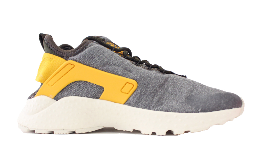 NIKE WOMENS HUARACHE RUN ULTRA SE SZ 6 DARK LODEN GOLD LEAF 859516 300