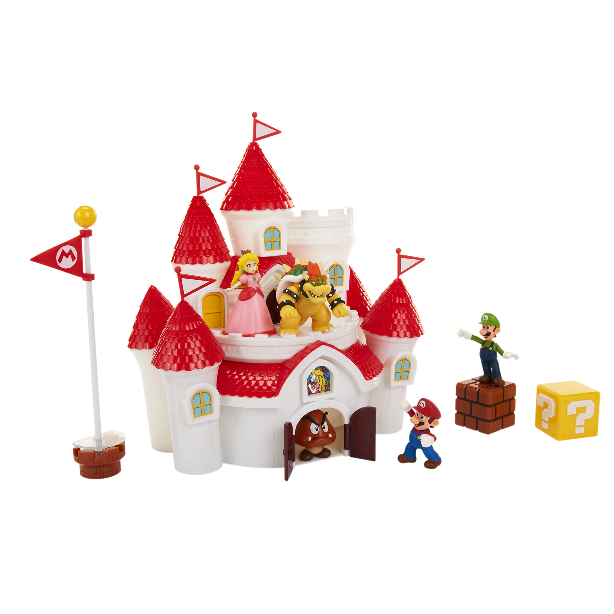 Nintendo Super Mario Deluxe Mushroom Kingdom Castle Playset With 5