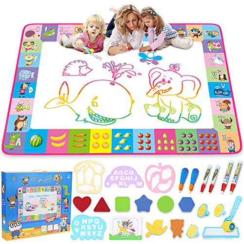 Water Doodle Mat - Kids Painting Writing Doodle Toy Board ...