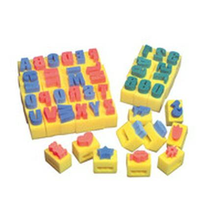 Creativity Street Assorted Shape Handle Sponge Set, 2-15/16 x 2 x 2-5/16 Inches, Set of 10