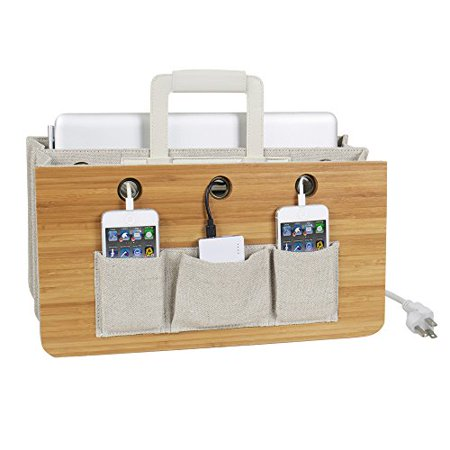 (Portable Tech Station for Charging Laptop, Tablet, and Smartphones: Zen Collection)