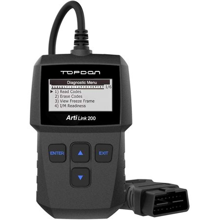 Clear Check Engine Light >> Obd2 Scanner Topdon Al200 Fault Code Reader With Clear Check Engine Light Can Obdii Car Diagnostic Scan Tool