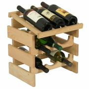 Wooden Mallet WRD32UN 9 Bottle Dakota Wine Rack with Display Top
