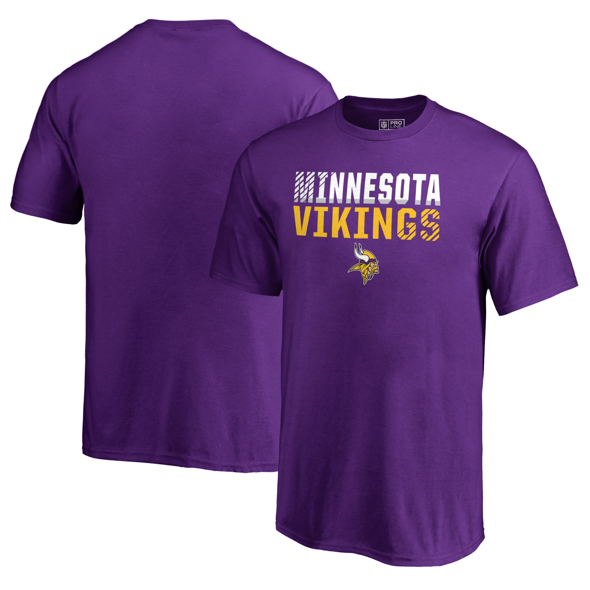 Minnesota Vikings NFL Pro Line by Fanatics Branded Youth Iconic Collection Fade Out T-Shirt - Purple