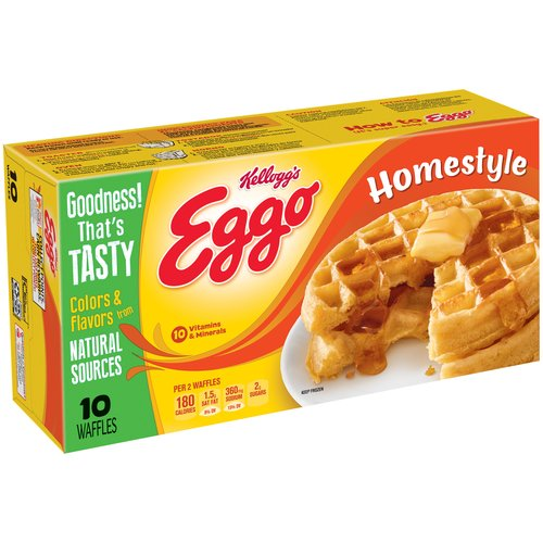 Kellogg's Eggo Homestyle Waffles, 10 count, 12.3 oz