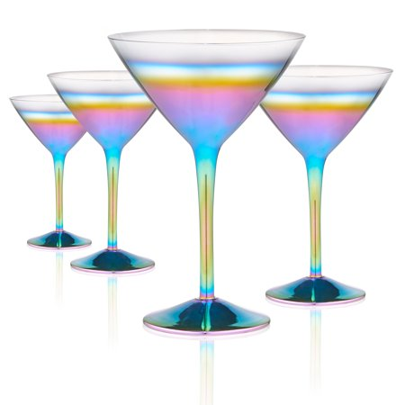 Artland Rainbow Martini S/4](Orange Martini Glasses)