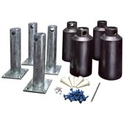 New England Arbors Concrete Surface Mount Kit for 5 inch Post Arbors