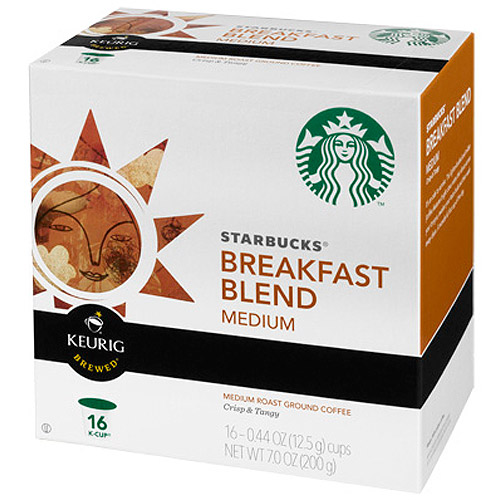 Starbucks�� Breakfast Blend Medium Ground Coffee K-Cups 16 ct Box