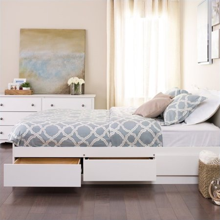 Prepac Monterey Queen Platform Storage Bed with Drawers in (Monterey Queen Bed)