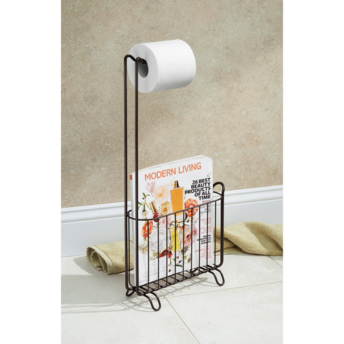 InterDesign Classico Toilet Paper Roll Holder with Magazine Rack by Generic