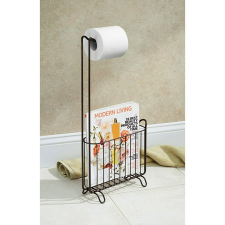 InterDesign Classico Toilet Paper Roll Holder With Magazine Rack Awesome Toilet Paper Holder With Magazine Rack