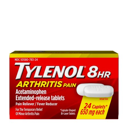 Tylenol 8 Hour Arthritis Pain Tablets with Acetaminophen, 24
