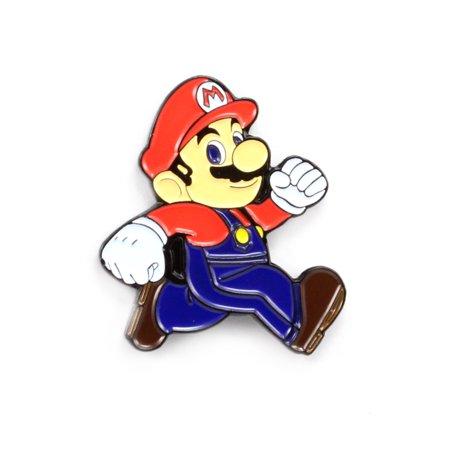 Classic Super Mario Nerdy Video Game Art Enamel Hat Pin Bag Lapel