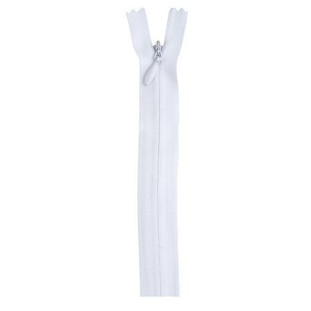 "Coats 9"" Polyester All Purpose White Zipper, 1 Each"