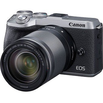 Canon EOS M6 Mark II 32.5 Megapixel Mirrorless Camera with Lens, 18 mm, 150 mm, Silver