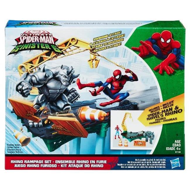 Hasbro HSBB7199 Spiderman Web City-Rhino Rampage Set, Pac...