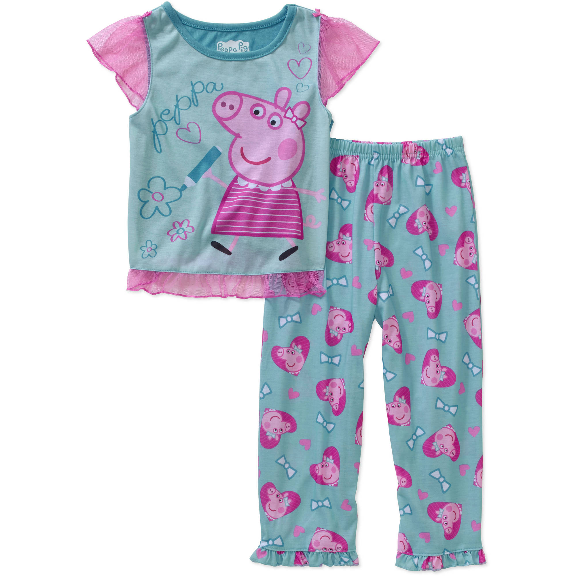 Peppa Pig Toddler Girl Short Sleeve Pajama Sleepwear Set-Online Exclusive