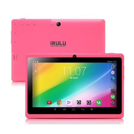 16Gb Pink Irulu 7  Android 6 2 Quad Core Dual Camera Tablet Pc Google Gms Upgraded Version With Charger
