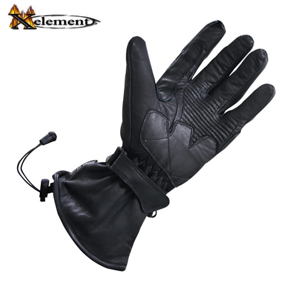 Xelement XG815 Mens Black Leather Motorcycle Winter Gloves