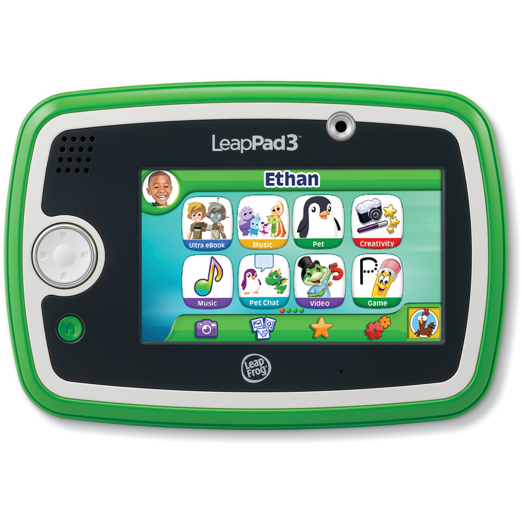 LeapFrog LeapPad3 Kids' Learning Tablet with Wi-Fi, Green or Pink