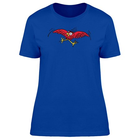 Crazy Red Bird Flying Tee Women's -Image by Shutterstock](Crazy Bird)