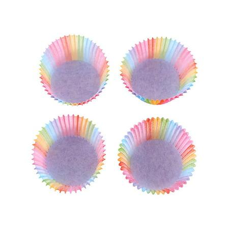 Domqga 100 Pcs Rainbow Couleur Cupcake Liner Cupcake Papier Cuisson Coupe Muffin Cas Moule À Gâteau, Arc-En Couleur Cuisson Tasse, Cupcake Liner Moule - image 2 de 8
