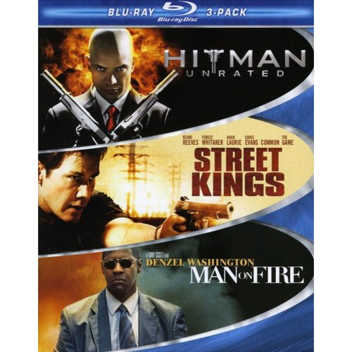 Hard Action 3 Pack: Hitman / Street Kings / Man On Fire (Blu-ray) (Widescreen)