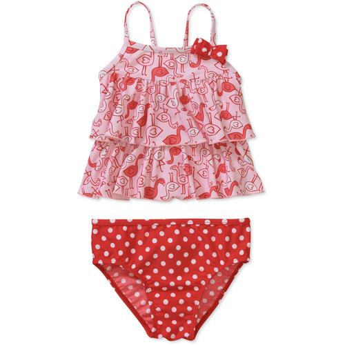 Child of Mine by Carters Newborn Girls' 2 Piece Flamingo Tankini Swimsuit