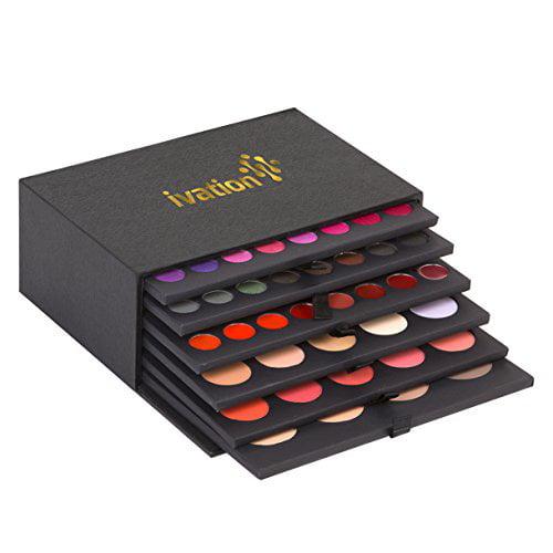 Ivation Professional 6 Layer, Blush, Lipgloss, Eyeshadow Makeup Cosmetic Kit