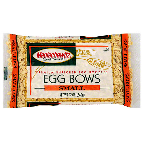 Manischewitz Small Egg Bow Noodles, 12 oz (Pack of 12)