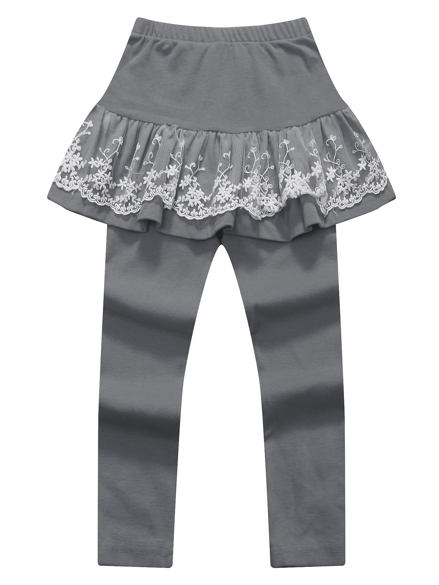 Richie House Girls' Pants with Lace Accented Skirt RH0887
