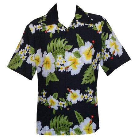 - hawaiian shirt mens hibiscus floral print aloha party beach camp