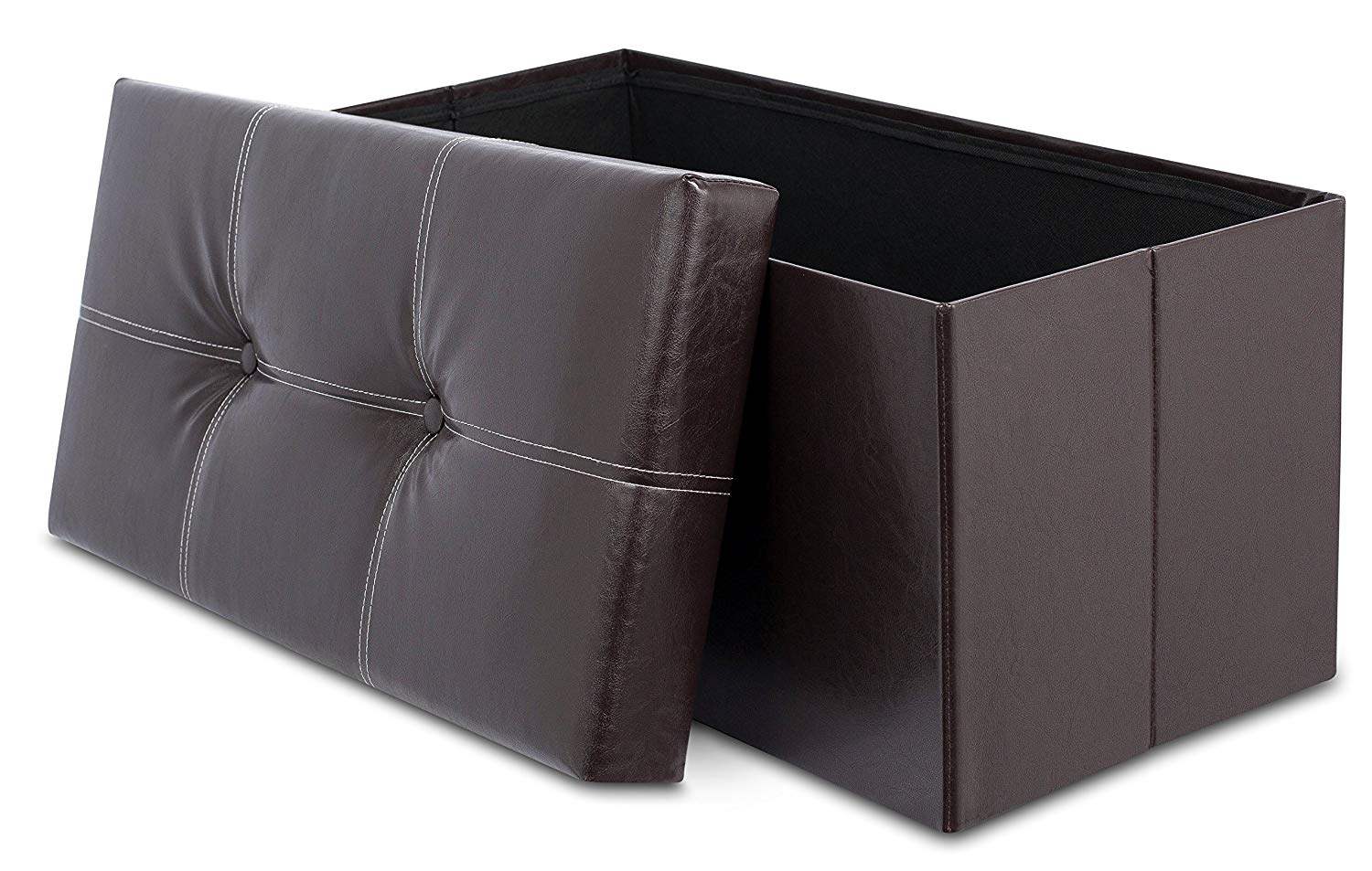 Internet S Best Faux Leather Folding Storage Ottoman Bench