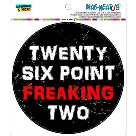 Twenty Six Point Freaking Two 26.2 Marathon Automotive Car Refrigerator Locker Vinyl