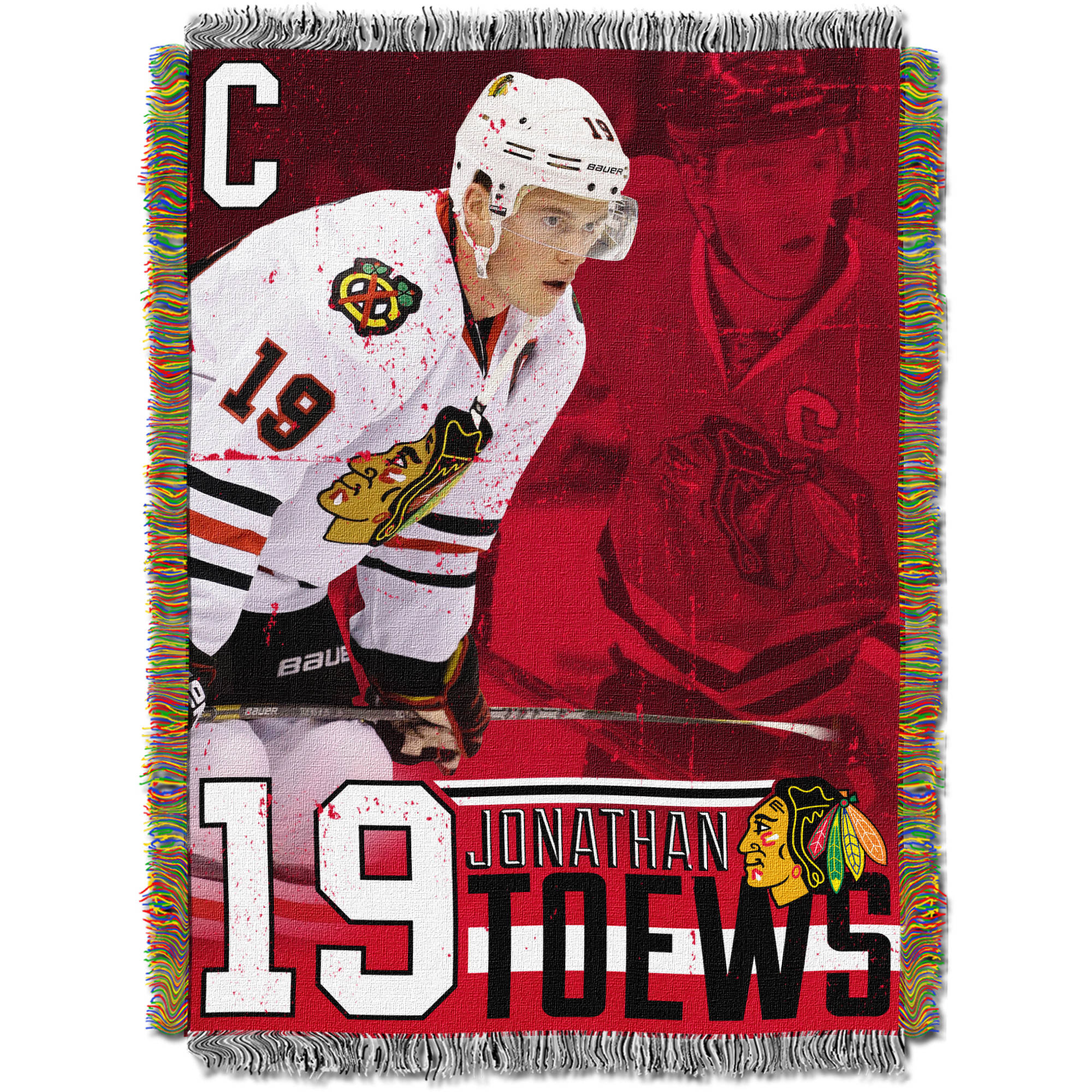"NHL 48"" x 60"" Players Series Tapestry Throw, Johnathan Toews"