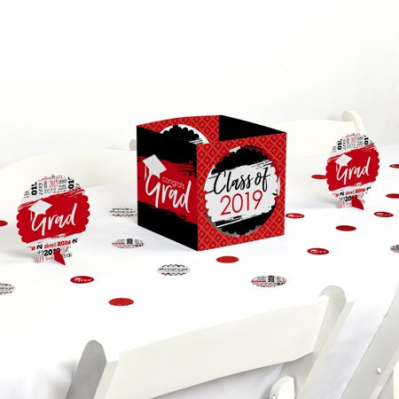 Red Grad - Best is Yet to Come - Red 2019 Graduation Party Centerpiece & Table Decoration